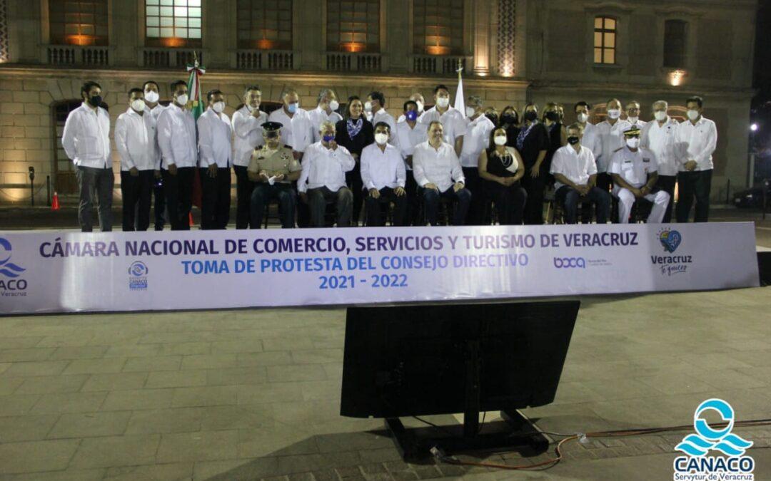 TOMA PROTESTA EL CONSEJO DIRECTIVO 2021-2022 DE LA CÁMARA NACIONAL DE COMERCIO, SERVICIOS Y TURISMO DE VERACRUZ